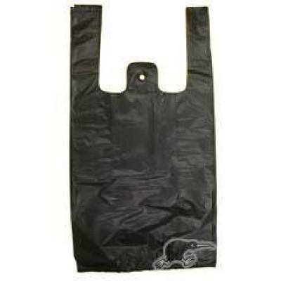 *Medium* Black T-Shirt Plastic Carry Bags *3000pcs/box*