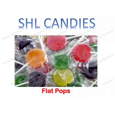 Flat Pops Lollipops Wrapped *SHL Candies* (2.6kg bag | apx 200pc)