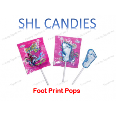 Footprint Pops Lollipops Wrapped *SHL Candies* (apx 200pc)