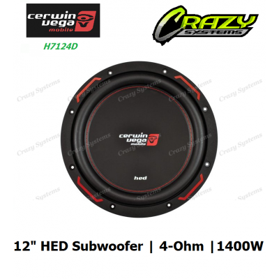 "Cerwin-Vega H7124D 12"" HED series 4-ohm 1400 Watts / RMS: 250 Watts"