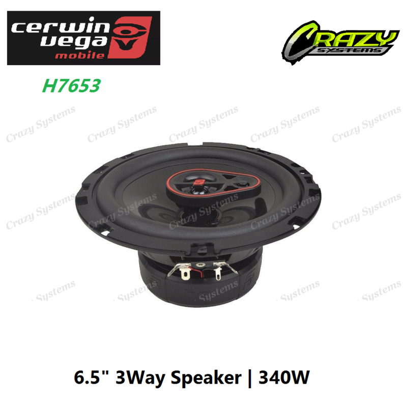 "Cerwin-Vega H7653 6.5"" 3-Way Coaxial Speakers 340W"