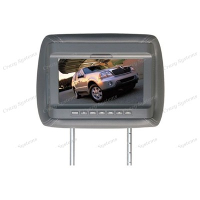 """7"""" Headrest Monitor (Universal Mounting) - With remote and headphone out"""