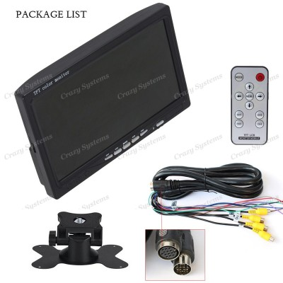 """DrivePro - *Comercial* 7"""" TFT Dash Mount Rear View Monitor (4 Camera Input)"""