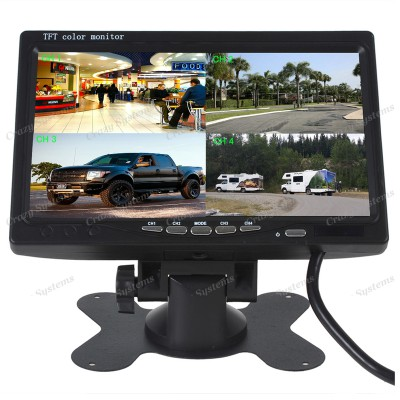 "DrivePro - *Comercial* 7"" TFT Dash Mount Rear View Monitor (4 Camera Input)"