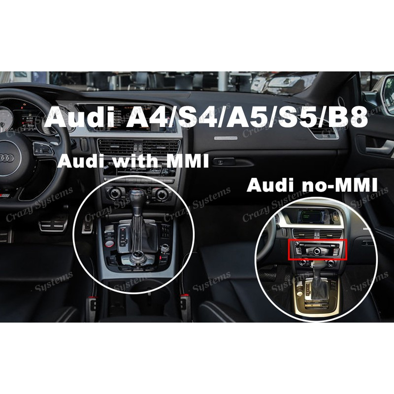 AUDI Video Interface with CarPlay, Android Auto, Mirrorlink, USB