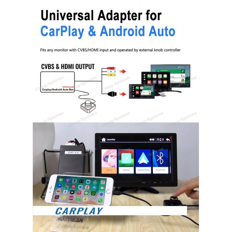 Universal CarPlay, Android Auto, USB Audio/Video Box (HDMI