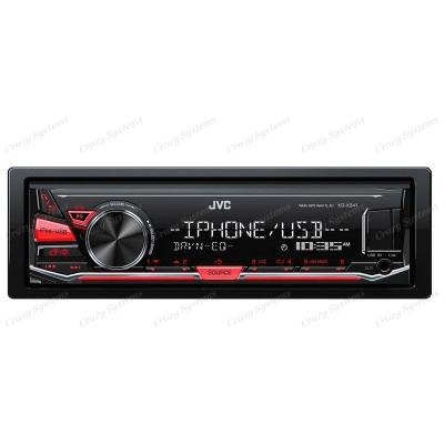 JVC KD-X241 CD MP3 Tuner with Android Direct, iPod Direct, USB & Aux