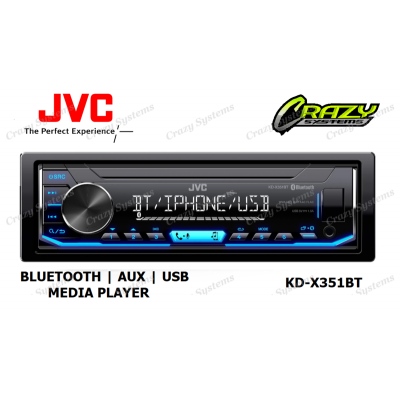 JVC KD-X351BT DIGITAL MEDIA RECEIVER WITH BLUETOOTH/ USB/ AUX /SPOTIFY