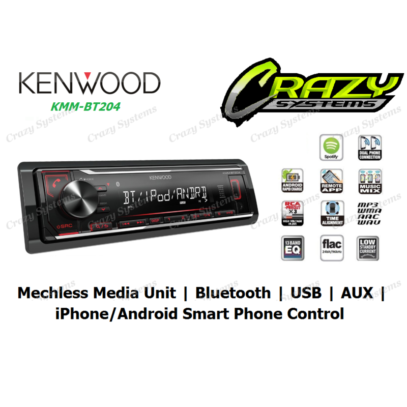 KENWOOD KMM-BT204 | Mechless Media Unit / Bluetooth / USB