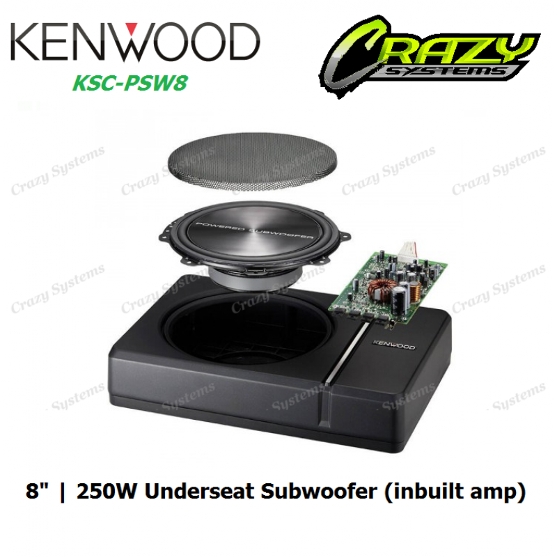 Kenwood Ksc Psw8 Under Seat Style Active Car Subwoofer 250w
