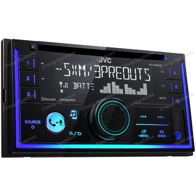 JVC KW-R930BT | CD/MP3 Double Din Radio with Bluetooth, USB & AUX, iPod/Android