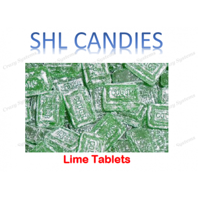 Lime Cough Tablets Hard Boiled Candy *SHL Candies* (2kg bag)