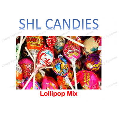 Assorted Lollipops Mix Wrapped *SHL Candies* (2.5kg bag | apx 200pc)