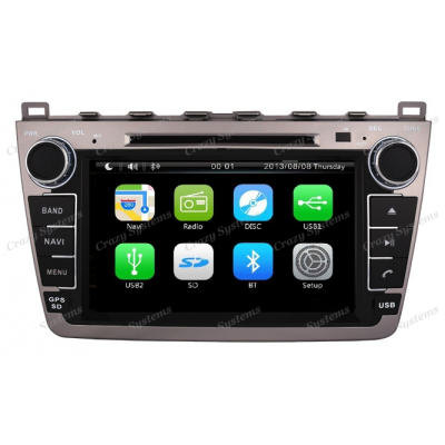 DrivePro Mazda 6 - Capacitive Touchscreen, DVD, GPS Ready, MirrorrLink, BT Radio