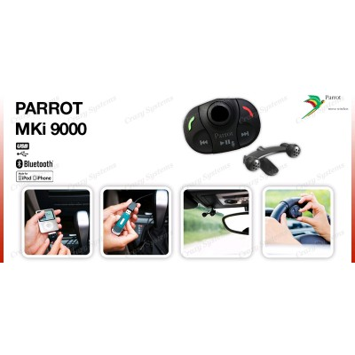 Parrot Handsfree Bluetooth Music/Voice Car Kit MKI9000 v3.0