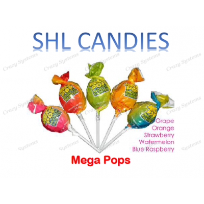 Mega Pops Lollipops Mix Wrapped *SHL Candies* (2.5kg bag | apx 87pc)
