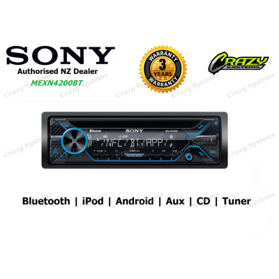 Sony (MEX-N4200BT) CD TUNER BLUETOOTH IPOD/ANDROID Stereo
