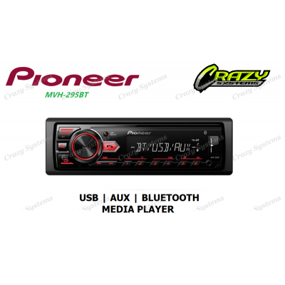 Pioneer MVH-295BT | Mechless MP3/WMA/WAV USB Receiver with Bluetooth