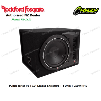 "Rockford Fosgate P1-1x12 Punch Single P1 12"" Loaded Enclosure (250w RMS 