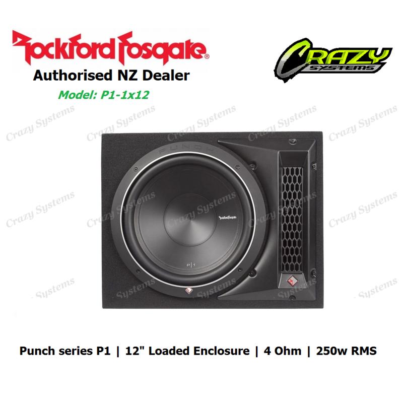 "Rockford Fosgate P1-1x12 Punch Single P1 12"" Loaded Enclosure (250w RMS | 4 ohm)"