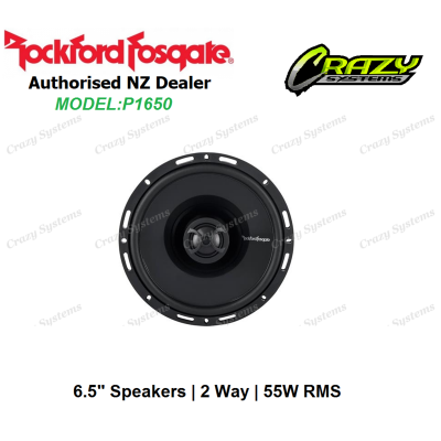 "ROCKFORD FOSGATE P1650 6.5"" 55W RMS 2 Ways Full Range Car Speakers"