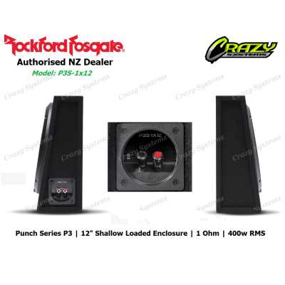 "Rockford Fosgate P3S-1x12 Punch Single P3 12""Shallow Loaded Enclosure (400w RMS)"