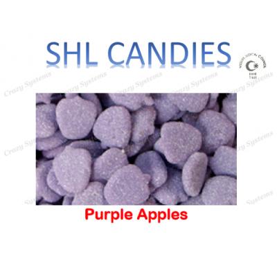 Gummi Sour Purple Apples Candy *SHL Candies* - (2kg bag   apx 420pcs)
