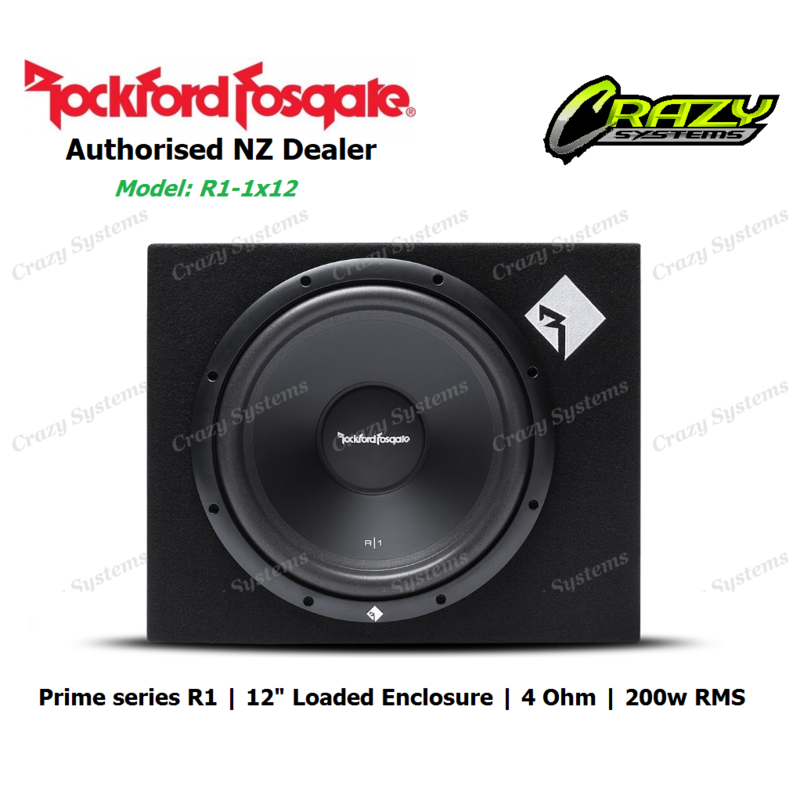"Rockford Fosgate R1-1x12 Prime Single R1 12"" Loaded Enclosure (200w RMS 