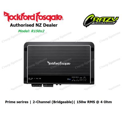 Rockford Fosgate R150x2 Prime 150 Watt 2-Channel Amplifier (150w RMS x 1 |4 ohm)