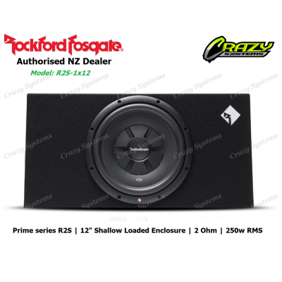 "Rockford Fosgate P3S-1x12 Prime 12"" R2S Shallow Loaded Enclosure (250w RMS)"