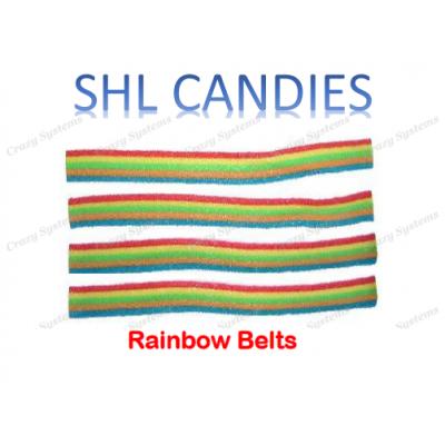 Sour Rainbow Belts Candy *SHL Candies* - (apx 200pcs/ctn)