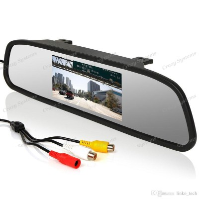 "DrivePro - 4.3"" Universal Rear View Mirror Monitor"
