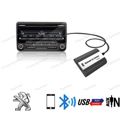 DrivePro Peugeot Citroen RD4 Bluetooth Usb Aux Integration Car Kit