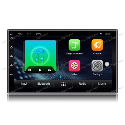 "DrivePro DPR0018A6 - 7"" Android 6.0 Mechless MultiMedia Unit with WIFI, BT, GPS,"