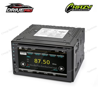 "DrivePro DPR0358 - 6.2"" Capacitive Touch, MirrorLink,USB AUX,DVD,BT, FM/AM Radio"