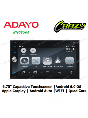 "Adayo RN6V56A 6.75"" Apple CarPlay Android Auto, Android 6.0 Quad Core Bluetooth"