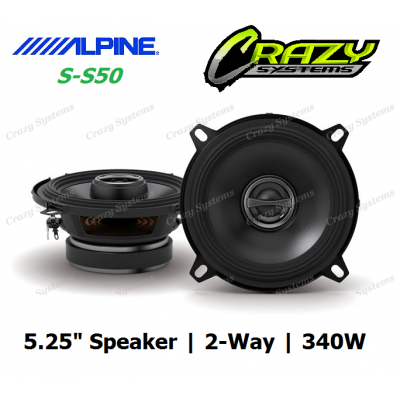 "ALPINE (S-S50) 5.25"""" 340W Type-S 2-Way Coax Speaker"