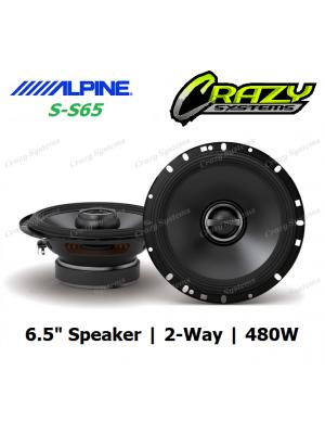 "ALPINE (S-S65) 6.5"" 480W Type-S 2-Way Coax Speaker"