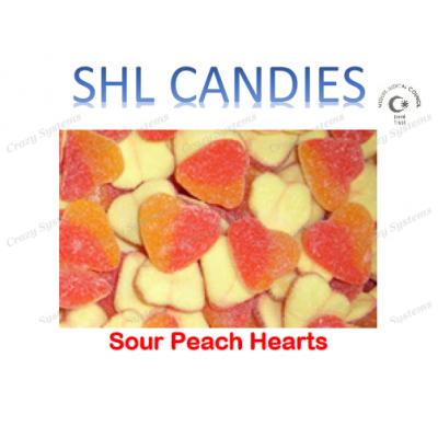 Sour Peach Hearts Candy *SHL Candies* - (2kg bag | apx 423pcs)
