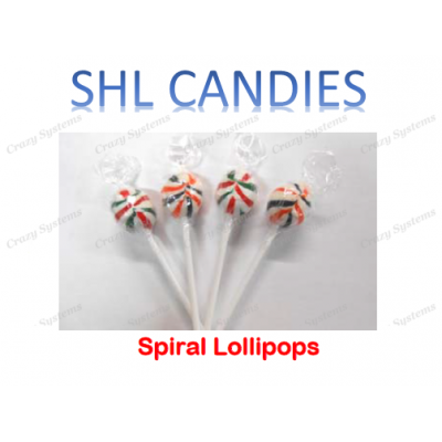 Spiral Lollipops Wrapped *SHL Candies* (2.5kg bag | apx 235pc)
