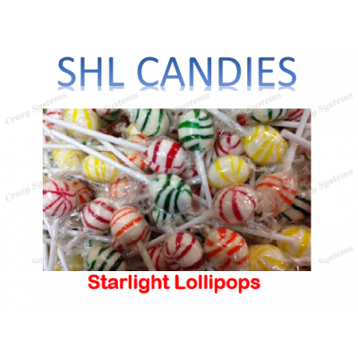 Starlight Pops Lollipops Mix Wrapped *SHL Candies* (2.5kg bag | apx 420pc)