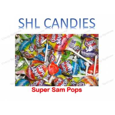 Super Sam Pops Lollipops Mix Wrapped *SHL Candies* (2kg bag | apx 60pc)