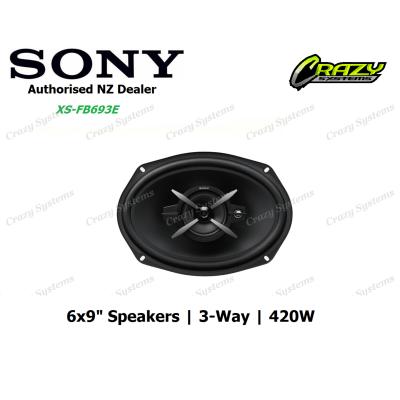 "SONY (XS-FB693E) 6X9"" 420W 3-WAY COAXIAL SPEAKERS"