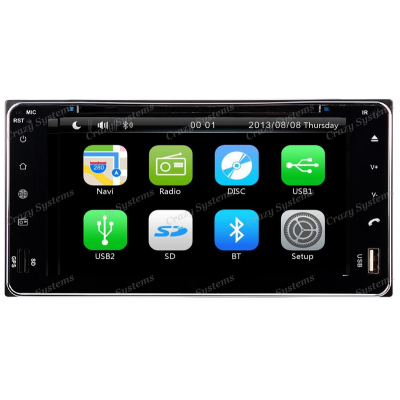 DrivePro DPRT061 Toyota Capacitive Touchscreen, DVD, GPS, MirrorrLink Radio