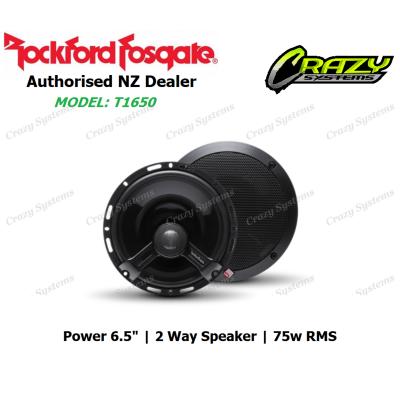 """Rockford Fosgate T1650 Power 6.5"""" 2-Way Full Range Euro Fit Speaker (75w RMS)"""