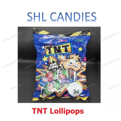 TNT Sours Lollipops Wrapped *SHL Candies* (50pcs)