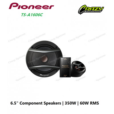 """PIONEER TS-A1606C 6.5"""" COMPONENT SPEAKER 60W RMS"""