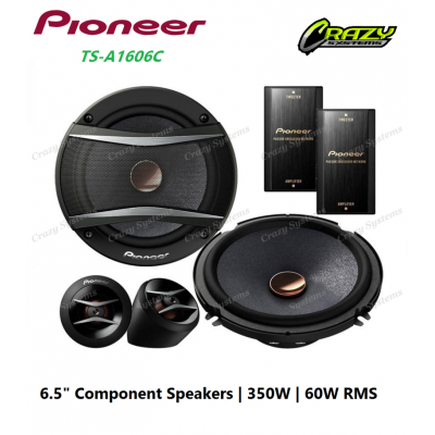 "PIONEER TS-A1606C 6.5"" COMPONENT SPEAKER 60W RMS"