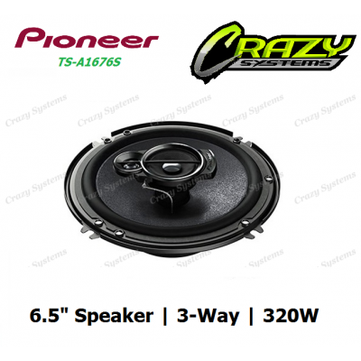 "PIONEER TS-A1676S 6.5"" 320W 3-WAY CAR SPEAKERS"