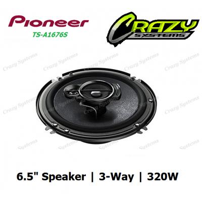 "PIONEER TS-A1676S 6.5"" 320W 3-WAY CAR SPEAKERS"
